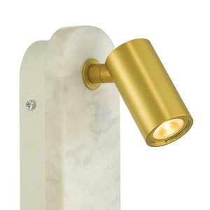 Marble & Gold Reading Arm Wall Light